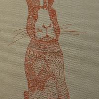 Japanese Cotton Print Fabric - Large and Small Hares 1 pattern 63 cm