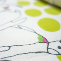 Japanese Cotton Print Cotton Kobayashi -  Penguin Colony (Lime Green) 50 cm