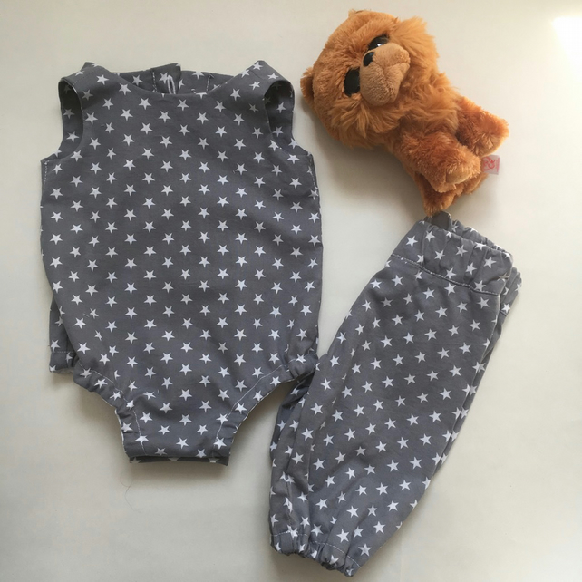 Unisex new baby Bodysuit and Harem Set