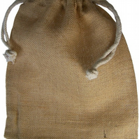 Jute drawstring bags,medium size,Burlap sack,Hessian bag,storage use