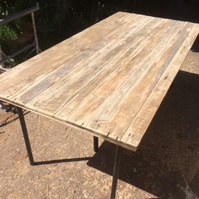 Handmade Reclaimed Pallet Wood Table Top - Made to Measure. Legs Available.