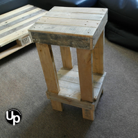 x2 Reclaimed Wood Bar Stools Kitchen Stools Chunky Stools