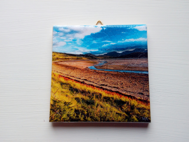 Ceramic Decorative Tile Stream Landscape