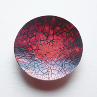 Red Glass Dish