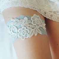 Blue garter, something blue, wedding garter