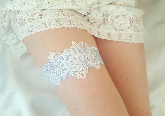 b4a9e2c34 Powder Blue Wedding Garter
