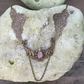 Angels wings and pink fire opal necklace N26