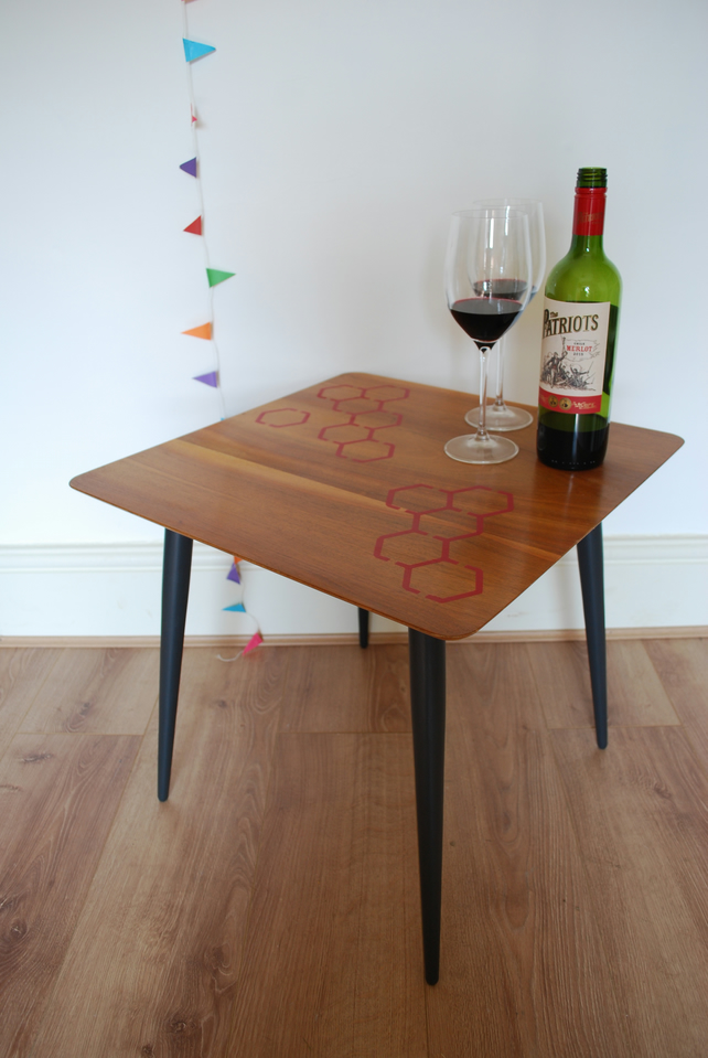 SOLD Hive - modern wooden side table