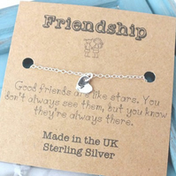 925 Friendship Bracelet, Custom Silver Heart Bracelet, Initial Jewellery