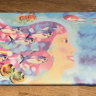Swimming with Fish - Printed Boxed Canvas