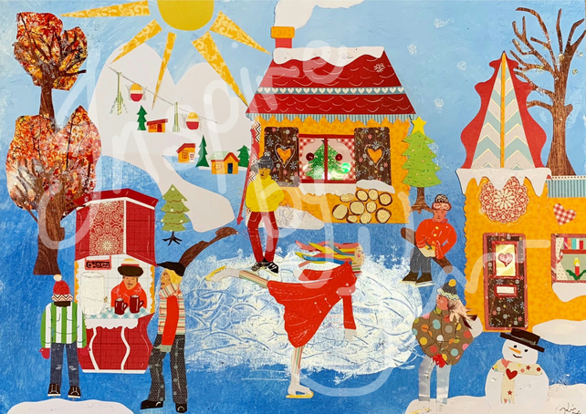 Winter Scene - Paperart Original