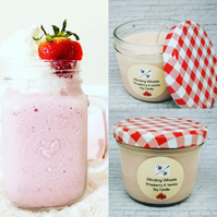 Strawberry and vanilla soy candle, 8oz soy candle, Scented soy candle