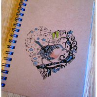 A6 Robin Lined Notebook Made to Order