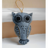 Felt Owl Hanging Decoration Made to Order