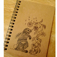 A6 Bunny Lined Notebook Made to Order