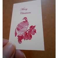 Pack of 8 Partridge in a Pear Tree Customer Business Cards