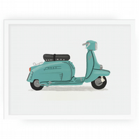 Personalised scooter print 30cmx40cm