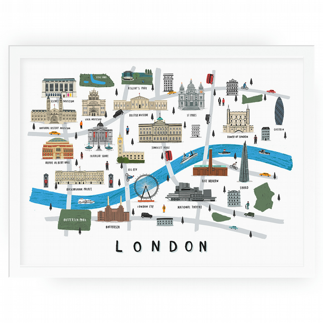 London map print 30x40cm
