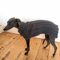 Whippet Cable Knit Jumper Grey or Red size LARGE