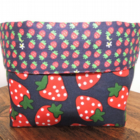 Strawberry design fabric basket.