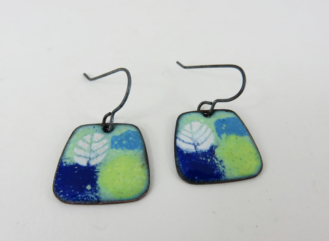 Colourful Enamel Dangle Earrings