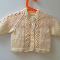 Yellow Hand Knitted Cardigan Age 12-18 months