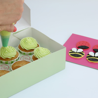 Baked cupcake kit as a birthday present. Ideal for young children.
