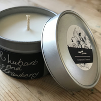 100% rapeseed Candle - Strawberry and Rhubard