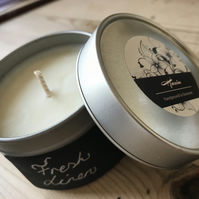 100% rapeseed Candle - Fresh Linen