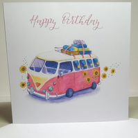 BIRTHDAY CARD, GLAMPING