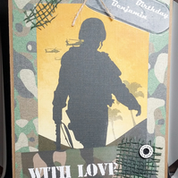 PERSONALISED MALE BIRTHDAY CARD, ARMY