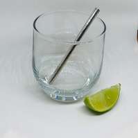 Short Sterling Silver Straw