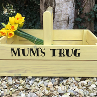 Handmade wooden personalised trug any text can be added gardeners trug gardening