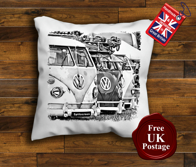 VW Campervan Split Screens Cushion Cover Handmade Choice of sizes