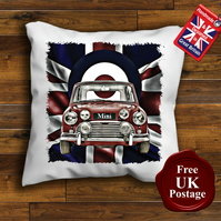 Mini Cooper Cushion Cover, Choose Your Size