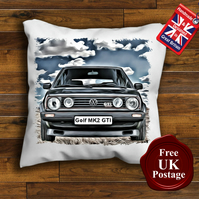 VW MK2 Golf GTI Cushion Cover, Choose Your Size