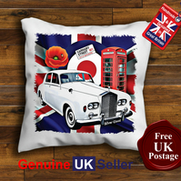 Rolls Royce Silver Cloud Cushion Cover, Choose Your Size