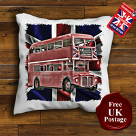 London Bus Routemaster Cushion Cover, Choose Your Size