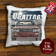 Audi Quattro Cushion Cover, Choose Your Size