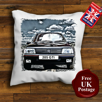 Peugeot 205 GTI Cushion Cover, Choose Your Size