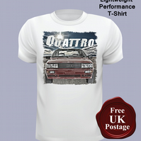 Audi Quattro T Shirt, Mens T Shirt, Choose Your Size