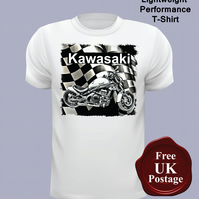 Kawasaki Motorcycle T Shirt, Mens T Shirt, Choose Your Size