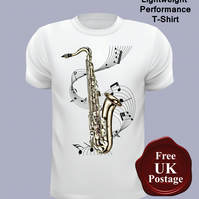 Saxophone T Shirt, Mens T Shirt, Choose Your Size