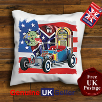 1922 Ford T Bucket Cushion Cover, Hot Rod Cushion Choose Your Size