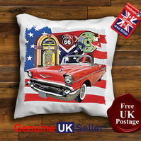 1957 Chevrolet Convertible Cushion Cover, Hot Rod Cushion Choose Your Size