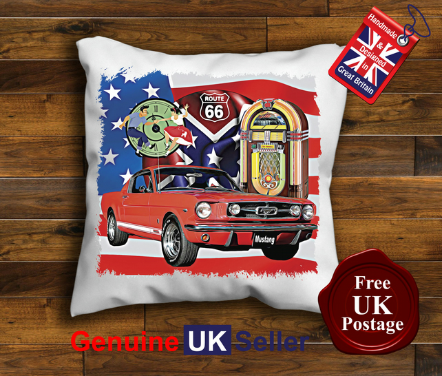 1957 Mustang fastback Cushion Cover, Choose Your Size