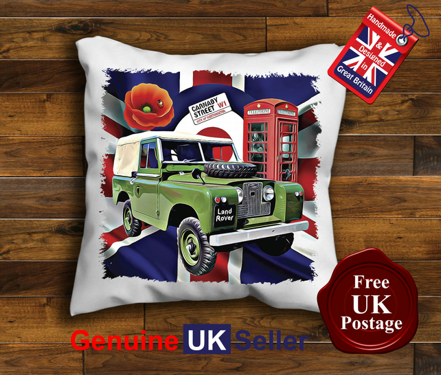 Land Rover Series 2 Cushion Cover, Choose Your Size