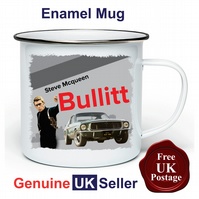 Bullitt Mustang Mug, Camping Mug, Hiking Mug, Fishing Mug, Outdoor Mug,
