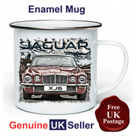 Jaguar XJ6 Mug, Camping Mug, Hiking Mug, Fishing Mug, Outdoor Mug,