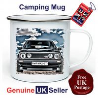 Golf GTI MK2 Mug, Camping Mug, Hiking Mug, Fishing Mug, Outdoor Mug, GTI MK2